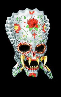 predator candy skull by ~SolomonBruxist on deviantART