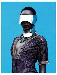 Futuristic Urban #Fashion - The Editorial by Julia Noni for Obsession Magazine Stars Ajak Deng