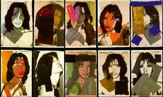 Mick Jagger portraits by Andy Warhol