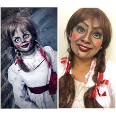 Annabelle doll makeup/costume