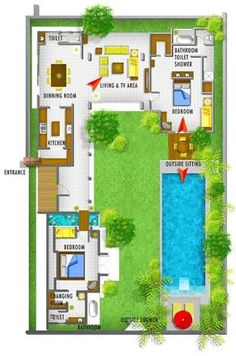 balinese house designs and floor plans - Google Search