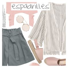 """Step into Summer: Espadrilles"" by pokadoll ❤ liked on Polyvore featuring NARS Cosmetics, 8 and Sunday Somewhere"