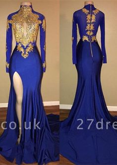 Newarrivaldress knows that the prom day for each girl is more than a ball she is going to. So, Modern High Neck Mermaid Front Split Prom Dresses Cheap Cheap Prom Dresses Uk, Split Prom Dresses, Royal Blue Prom Dresses, Gold Prom Dresses, Formal Dresses, Satin Dresses, Wedding Dresses, Bridesmaid Dress, Blue Dresses