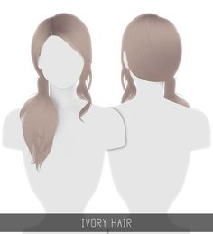 Simpliciaty: Ivory Hair for Sims 4 The Sims 4 Pc, Sims Four, Sims 4 Cas, Sims Cc, Sims 4 Black Hair, The Sims 4 Cabelos, Pelo Sims, Sims 4 Game Mods, Sims Games