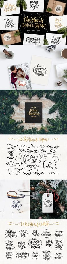 Merry Christmas SVG quotes & clipart - Objects - 1