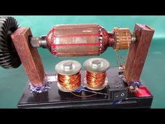 How to make simple electric motor generator - Science project DC motor at school - YouTube
