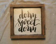 Dorm Sweet Dorm Sign College Dorm Decorations by WordsAndConfetti