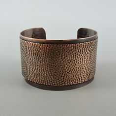 Antiqued Copper Cuff Copper Bracelet 6 by 1 1/2 by HCJewelrybyRose