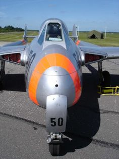 The de Havilland DH.100 Vampire was a British jet fighter developed and manufactured by de Havilland