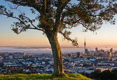 Auckland from Mt Eden, New Zealand.