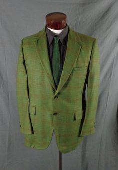 Vintage Varracelli Clothes Green Atomic Checkered Gold Flecked Blazer – 42 - VLV #VarracelliClothes #Doyoureallyneedone