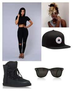 """""""Bad News #2"""" by tyara-camsmith ❤ liked on Polyvore featuring UGG Australia and Converse"""