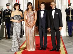 Michelle Obama's Stunning Atelier Versace Dress Marks a New Style Era for First Ladies   E! News
