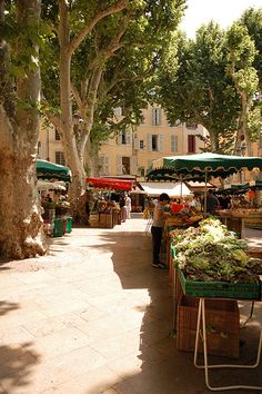 Market Day in Provence - I remember this fondly... all the spices... smells. LOVE