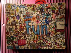 Fun Art Journaling...very nice...