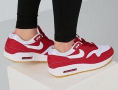 Nike Air Max 1 Red White Gum 319986-608 - Sneaker Bar Detroit Air Max bf202b35b