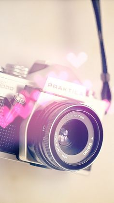 Pink beautiful camera wallpaper