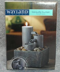 Soothing Sound of Flowing Water! Wayland Square Tranquility Tealight Fountain meditation AA batteries rocks NEW #WaylandSquare #meditation