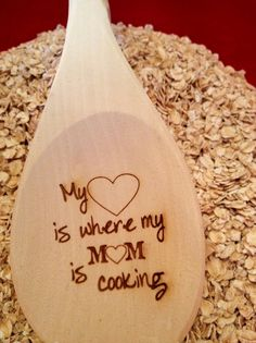 Personalized wooden spoon for mom!