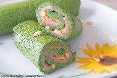 Deze vrolijke, groene koolhydraatarme wraps passen prima bij de Paasbrunch!