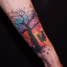 watercolor tattoo tree - Cerca con Google