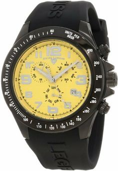 Swiss Legend Men's 30041-BB-07 Eograph Chronograph Yellow Grid Dial Watch Swiss Legend. $87.51
