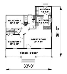 two bedroom 24x24 plan mostly small houses pinterest cabin floor plans cabin and bedrooms