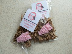 Owl Organic Goats Milk Glycerin Soap Bagged Tagged Custom Whimsical Party Favors Gift X1. $1.30, via Etsy.