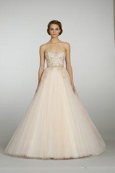 @Lazaro Bridal Sherbet Tulle Ball Gown style 3315