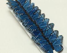 Feather Butterflies 12 Large Silver Butterfly by BlissfulSilks