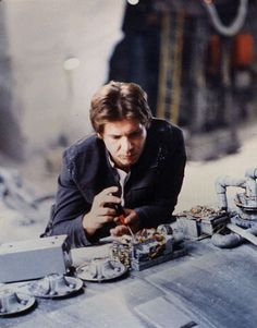Harrison Ford on the set of Star Wars Star Wars Film, Star Wars Art, Star Trek, Harrison Ford, Science Fiction, Han Shot First, Episode Iv, Star War 3, Death Star