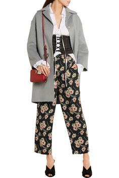 Prada - Cropped Floral-print Crepe Wide-leg Pants - SALE20 at Checkout for an extra 20% off