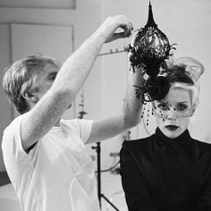 In another life, I'd have been a milliner.  Philip Treacy and Daphne Guinness, Italian Vogue Shoot, 2008.