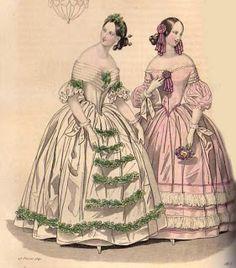 1840, Abendkleider?, aus dem Petit Courrier des Dames
