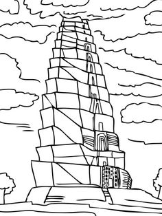 Tower of Babel coloring page from Tower of Babel category. Select from 20946 printable crafts of cartoons, nature, animals, Bible and many more.