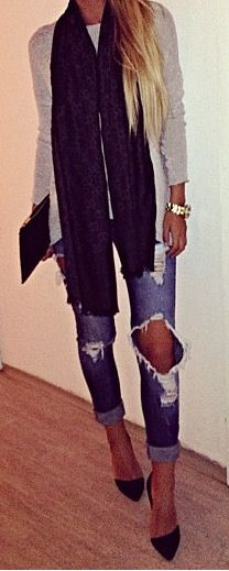 I love this ripped jeans!