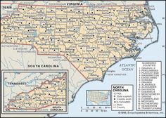 Maps of North Carolina Counties starring in late 1600's