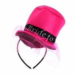 Bride To Be Mini Top Hat   See more at http://www.myhensparty.com.au