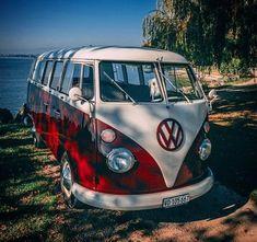 Volkswagen T1 Camp Van #VolkswagonClassiccars