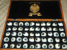 Vintage German Prosthetic Eyes, circa 1930's