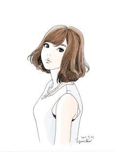Anime Art Girl, Manga Art, Anime Manga, Art And Illustration, Cute Girl Drawing, Manga Characters, Art Sketchbook, Cartoon Drawings, Japanese Art
