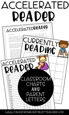 Have fun implementing Accelerated Reader in your elementary school classroom with these easy to use classroom AR charts and parent letters from Tales from a Very Busy TpT store. Ar Reading, Third Grade Reading, Reading Levels, Teaching Reading, Guided Reading, Second Grade, Reading Tips, Reading Skills, Fourth Grade