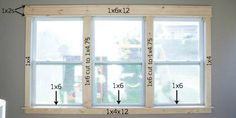 This easy craftsman style window trim requires NO confusing angled cuts, so it's easy for anyone to do, even a beginner, and it makes a HUGE impact.