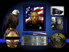 IN MEMORIAM: OFFICER DARRYL WALLACE Officer Darryl Wallace was killed in a single vehicle crash while responding to a prowler call at approximately 8:30 pm. He had his emergency equipment activated and was attempting to pass another vehicle when his patrol car left the roadway at the intersection of Tara Boulevard and Old Poston Road. Officer Wallace had served with the Clayton County Police Department for only five months. He is survived by his parents. Officer Darryl Wallace-gone, but…