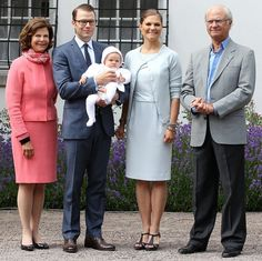 Crown Princess Victoria & Family July 2012
