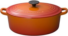 Le Creuset Enameled CastIron 5Quart Oval French Oven Flame *** Continue to the product at the image link.