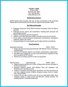 senior accountant resume format accountant pinterest