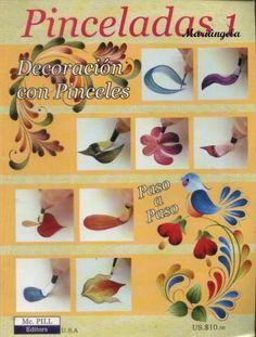 Revista de pintura-Pinceladas - Mariangela Maciel - Picasa Web Albums..Online painting book with one stroke picture tutorials!