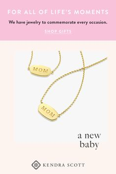 "The perfect gift for a mom in your life you want to appreciate: a vermeil gold pendant necklace with ""Mom"" engraved in the center. An everyday staple and an everyday reminder of her importance."