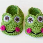 Frog Baby Booties Crochet Pattern